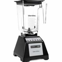 Blendtec Total Classic Original Blender with Wildside+ Jar (90 oz), Professional-Grade Power, 6 Pre-programmed Cycles, 10-speeds, Black (Certified Refurbished)