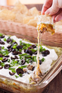baked 7-layer dip via Eating Richly