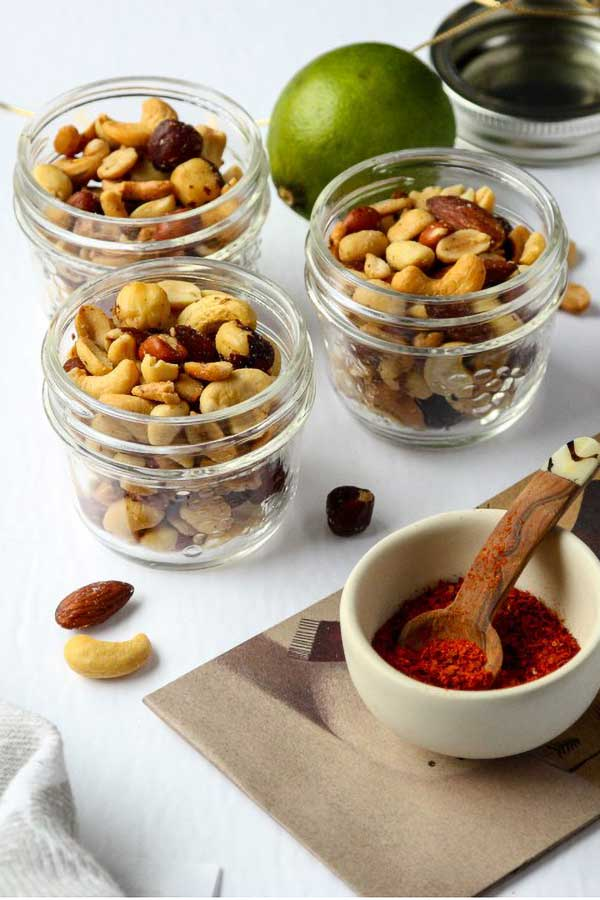 Chili Lime Spiced Nuts via The Food Blog