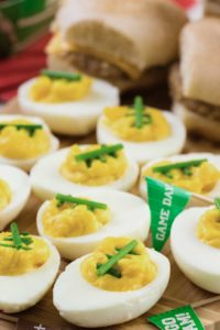 deviled eggs for football party