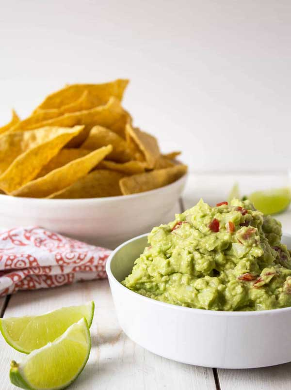 4-ingredient homemade guacamole via Beyond the Chicken Coop