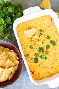 Hot Corn Dip recipe via Happy Healthy Mama