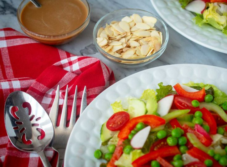 Red & Green Salad with Honey Mustard Dressing