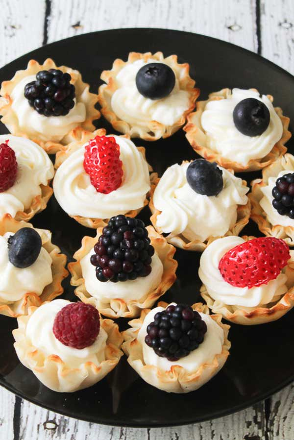 phyllo fruite cups via Jen Around the World
