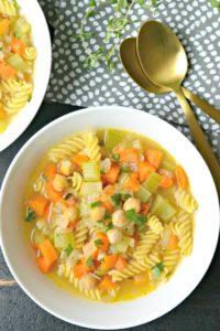 Chick Pea Noodle Soup
