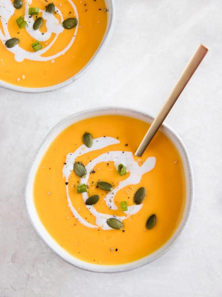 Instant Pot Butternut Squash Soup (Real + Vibrant)