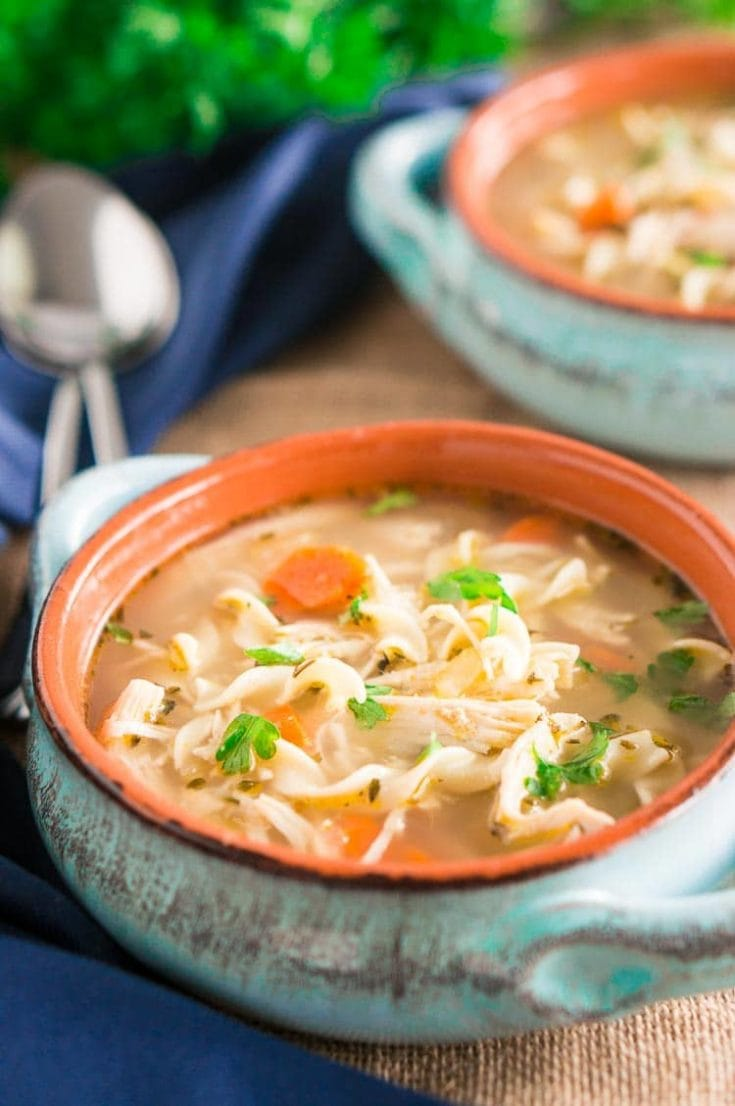 Instant Pot Chicken Noodle Soup (Delicious Meets Healthy)