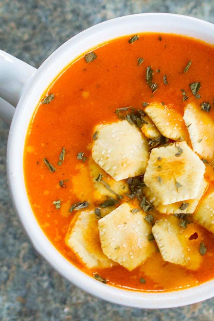 Instant Pot Creamy Tomato Basil Soup (FoodLove)