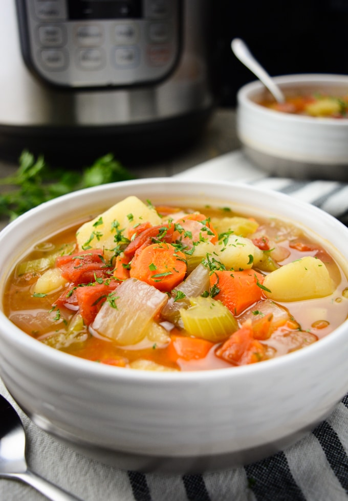 Instant Pot Vegetable Soup (Where You Get Your Protein)