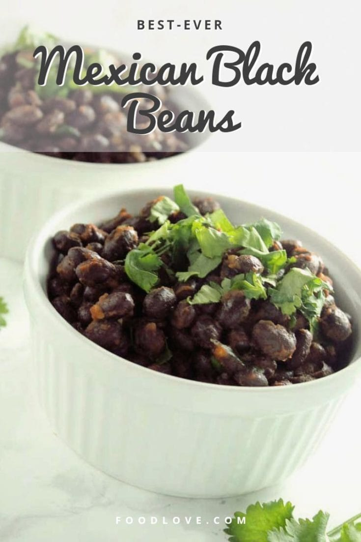 These really are the best ever Mexican black beans. Served as a side, on tacos or salads, or in burritos or enchiladas, they're delicious, quick, and easy! #beans #blackbeans #easyrecipes #quickandeasy #healthyrecipes #mexicanfood #homemade #foodlove