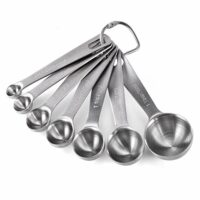 Measuring Spoons: U-Taste 18/8 Stainless Steel Measuring Spoons Set of 7 Piece: 1/8 tsp, 1/4 tsp, 1/2 tsp, 3/4 tsp, 1 tsp, 1/2 tbsp & 1 tbsp Dry and Liquid Ingredients