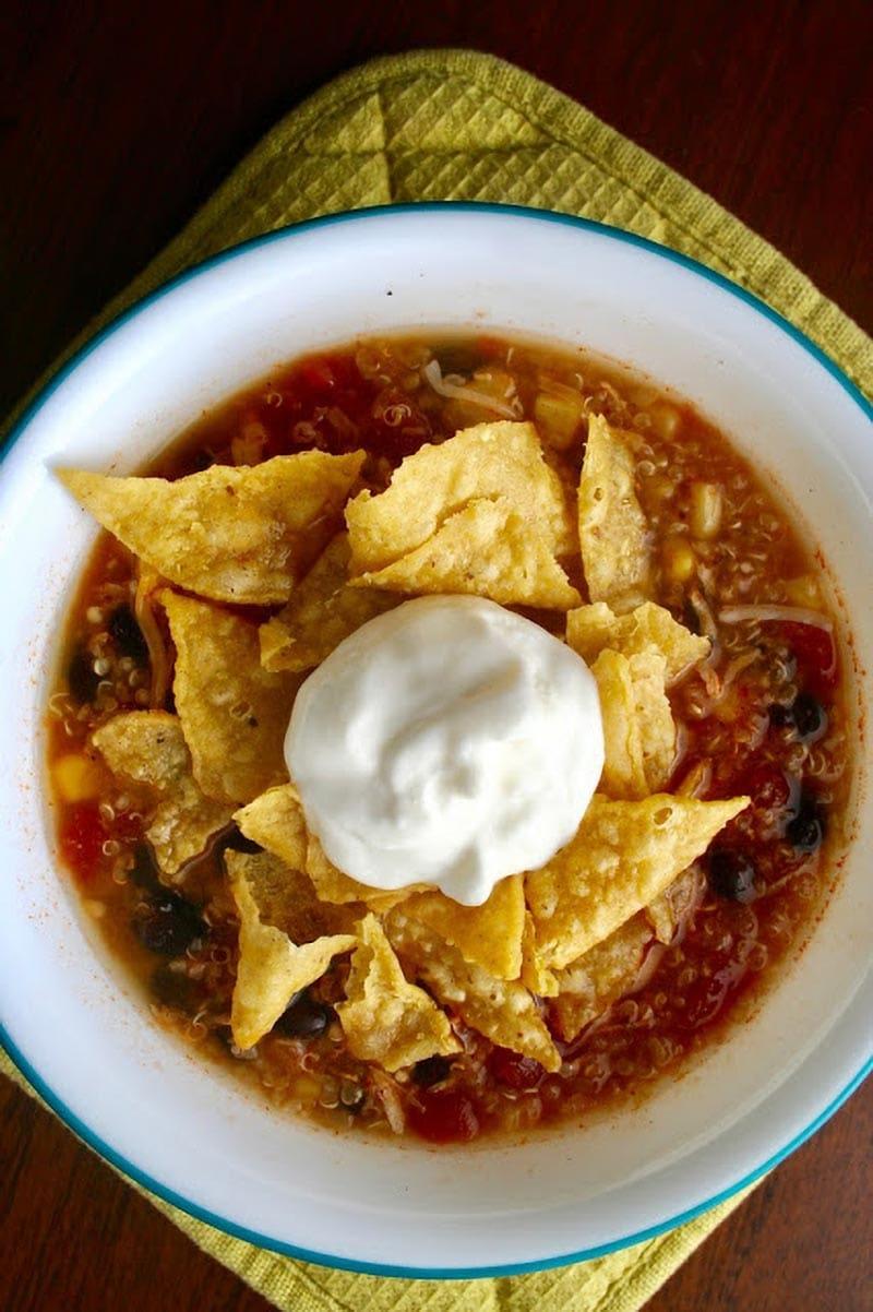Chicken Enchilada and Quinoa Soup