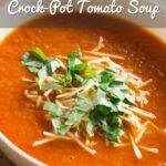 Crock Pot Tomato Soup Pinterest