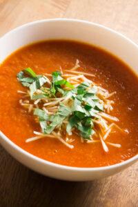 low-calorie, Crock-Pot, vegan tomato soup