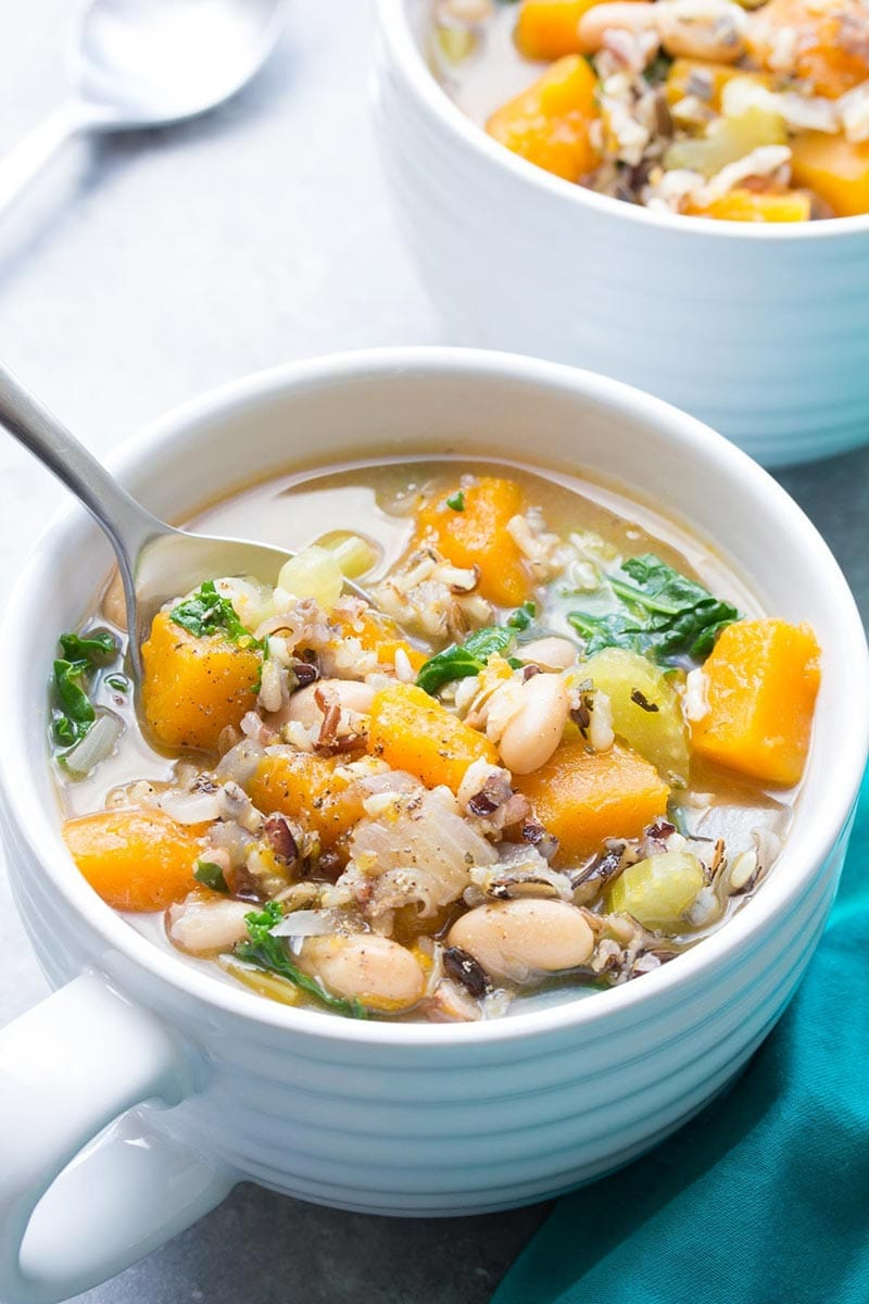 wild rice with vegetable soup