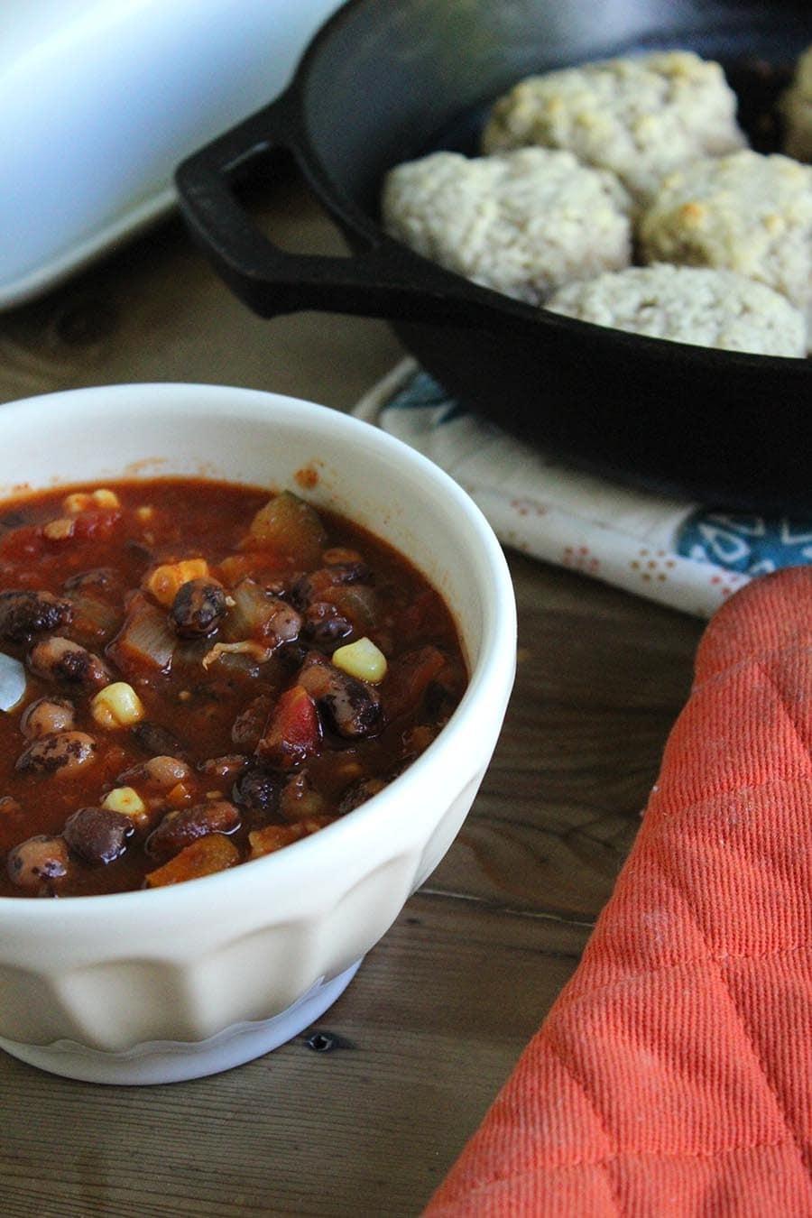 Vegetarian Crock Pot Chii