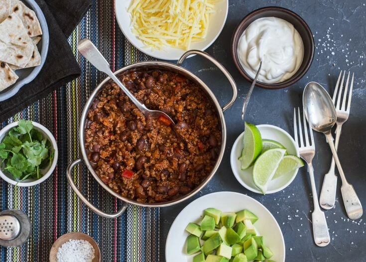 Instant Pot Beef Chili with Bacon and Jalapeño