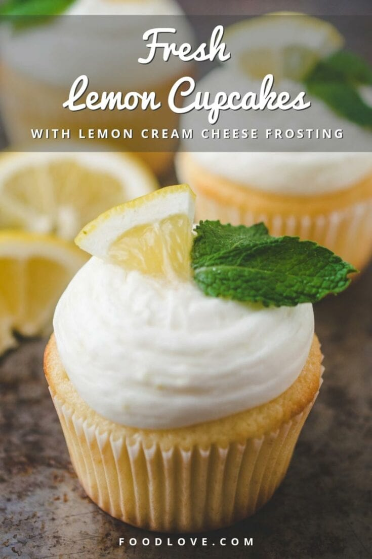 These fresh lemon cupcakes with lemon cream cheese frosting are perfect for any cupcake-worthy occasion. They are full of bright, sunny lemon flavor with the perfect balance of sweet and tart. #cupcakes #lemoncupcakes #foodlove
