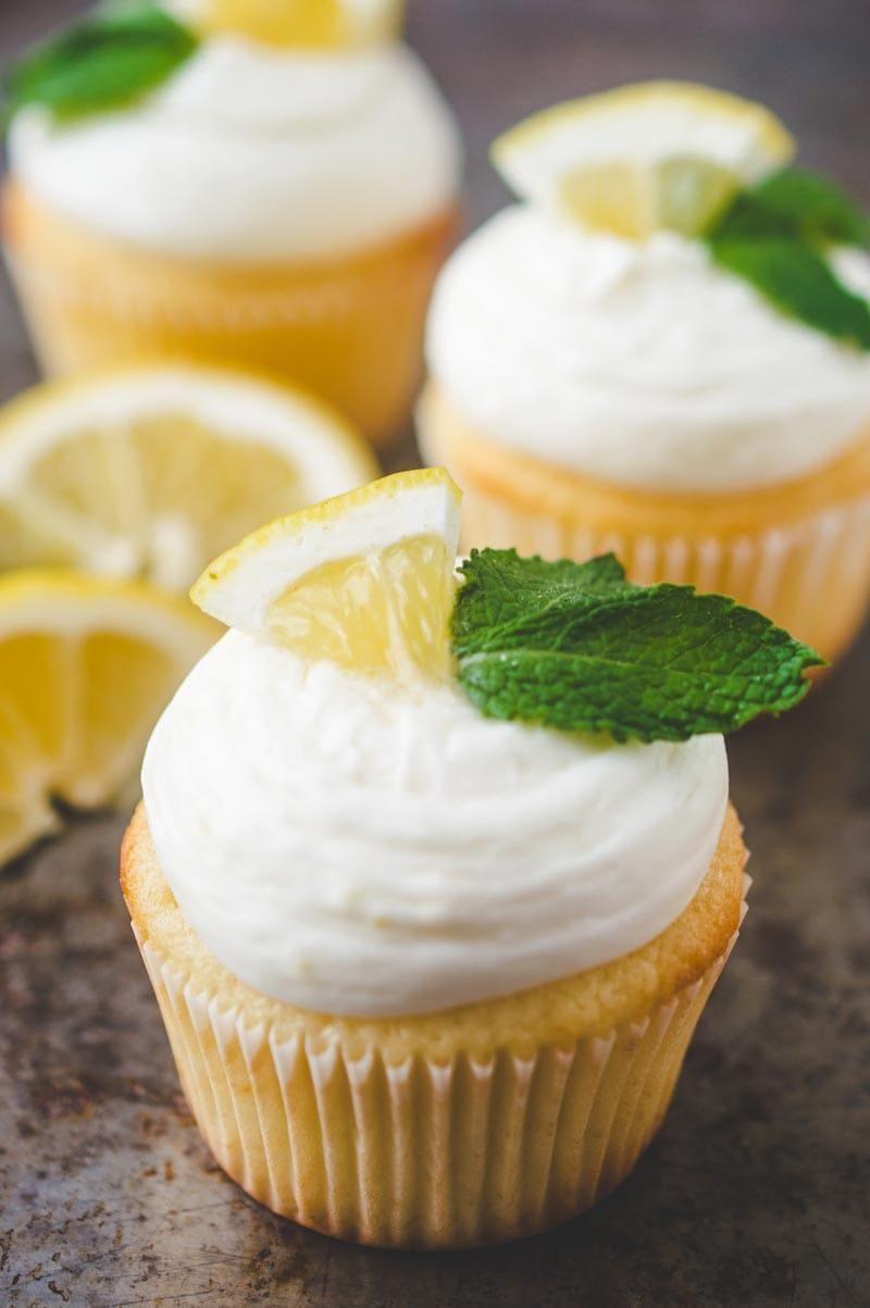 Fresh Lemon cupcakes