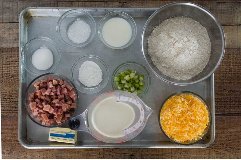 Ham and Cheese Scones Ingredients