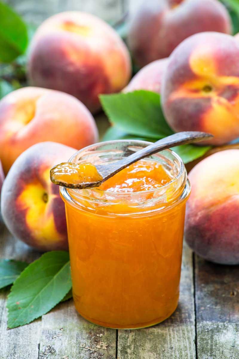 Low Sugar Peach Jam