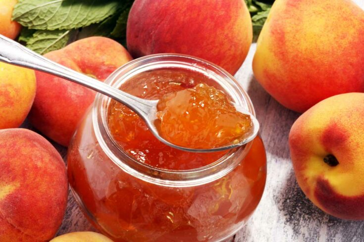 Peach Vanilla Jam (Low Sugar Recipe)