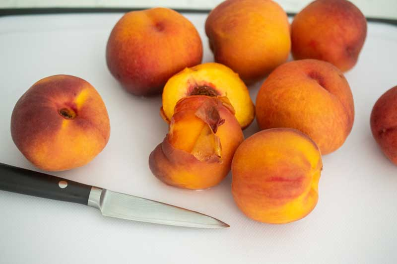 Low Sugar Peach Jam Ingredients