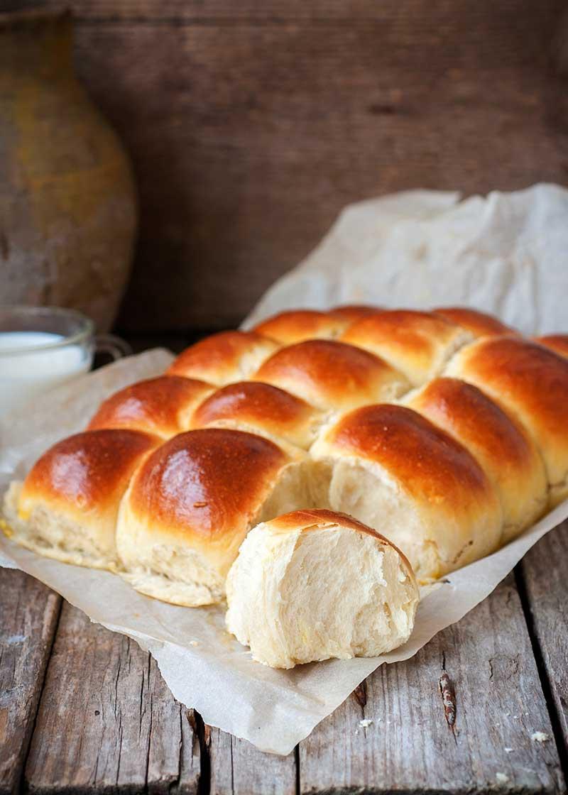 Bread on wax paper