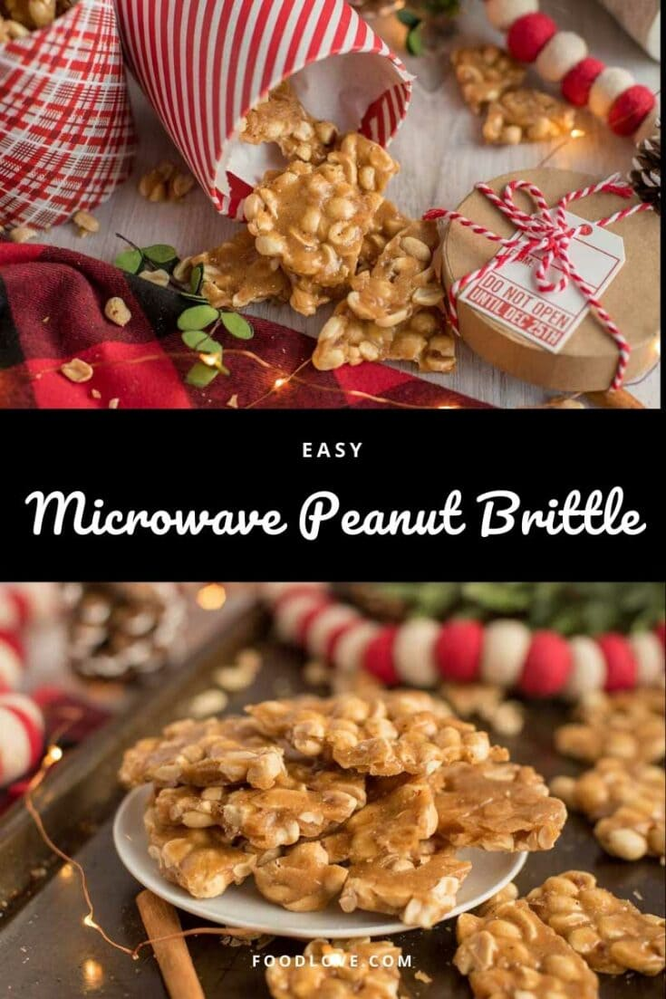 With secret flavor ingredients and extra peanuts, this really is the best microwave peanut brittle recipe! Ultra-easy with no candy thermometer required.