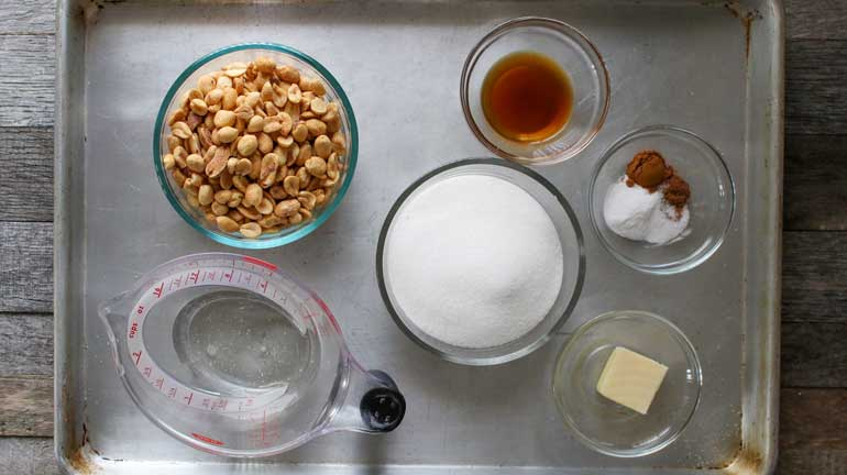 ingredients for microwave peanut brittle