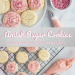Amish Sugar Cookies with Strawberry Cream Cheese Frosting Pinterest