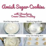 Amish Sugar Cookies with Strawberry Cream Cheese Frosting Pinterest 3