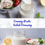 Creamy Pesto Salad Dressing Pinterest 5