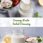 Creamy Pesto Salad Dressing Pinterest 6