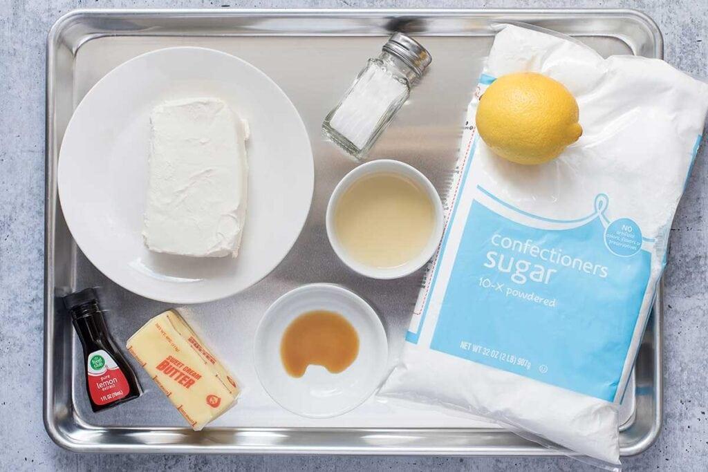 Lemon Sugar Cookies with Lemon Cream Cheese Frosting Ingredients