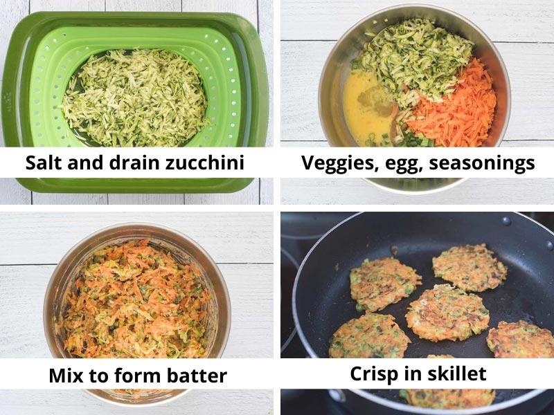 Veggie Fritters Process 2