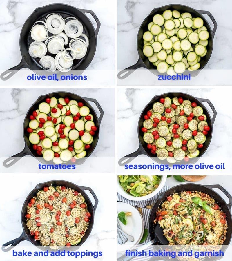 Italian Zucchini Bake Process