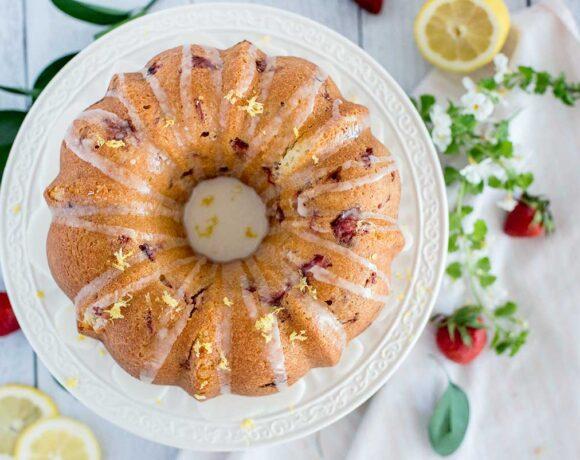 Strawberry Bundt Cake Featured 3