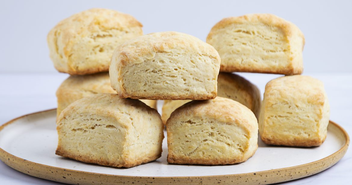 vegan biscuits on a white plate