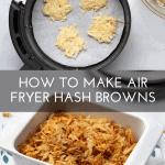pinterest button for air fryer hash browns